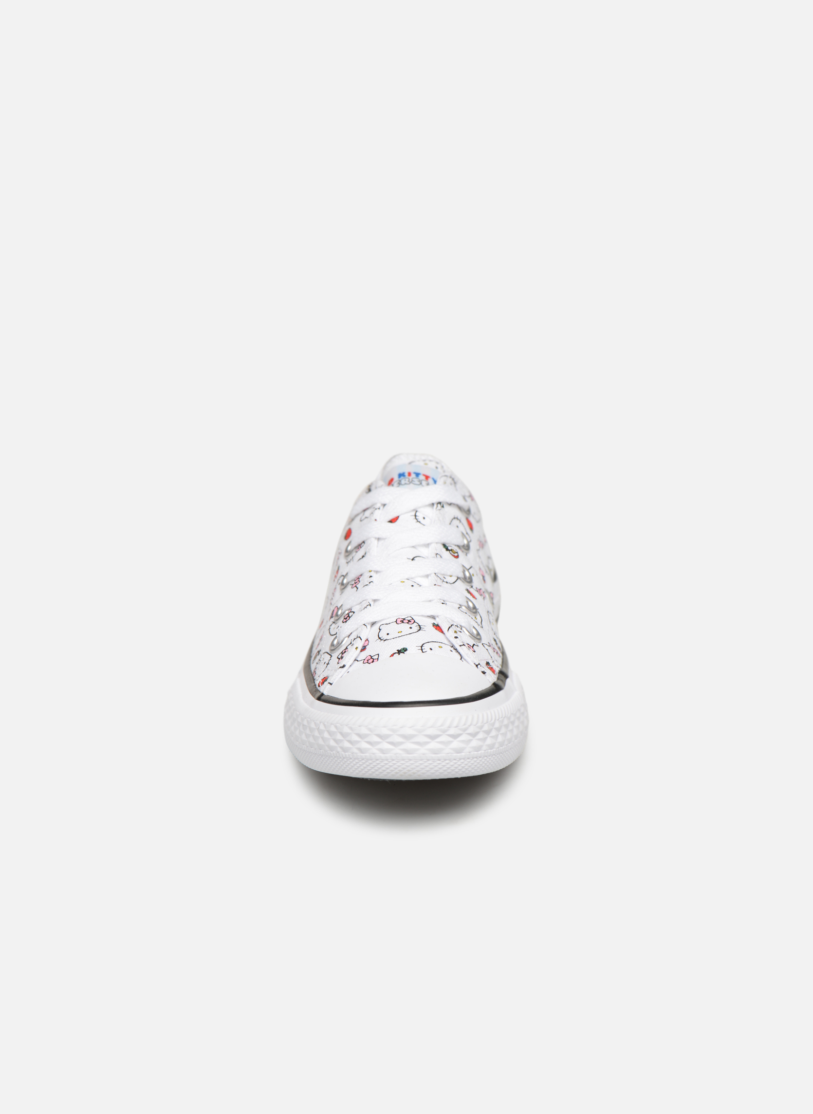 Baskets Converse Converse x Hello Kitty - Ctas Ox K Rouge vue portées chaussures