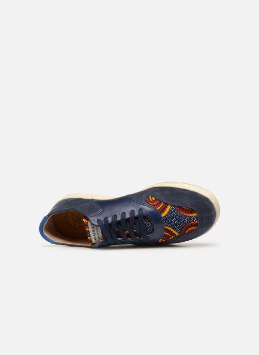 Baskets Panafrica Sahara M Bleu vue gauche