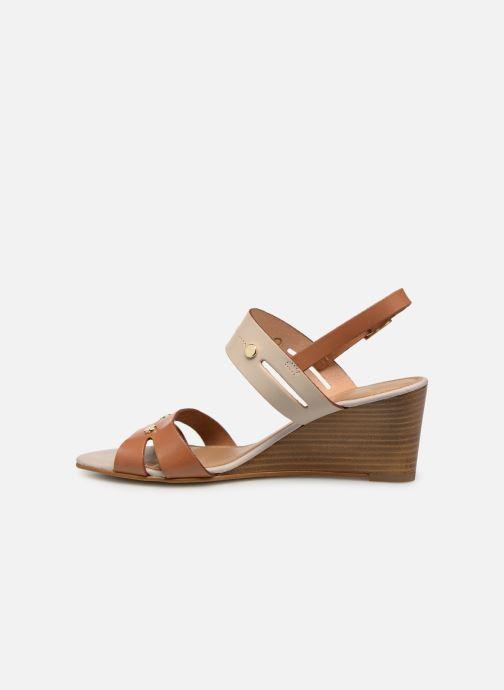 Sandales et nu-pieds Georgia Rose Lorean Marron vue face