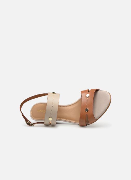 Sandales et nu-pieds Georgia Rose Lorean Marron vue gauche
