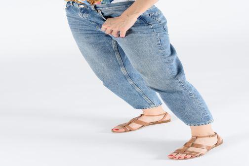 Sandales et nu-pieds Georgia Rose Loriane Marron vue bas / vue portée sac
