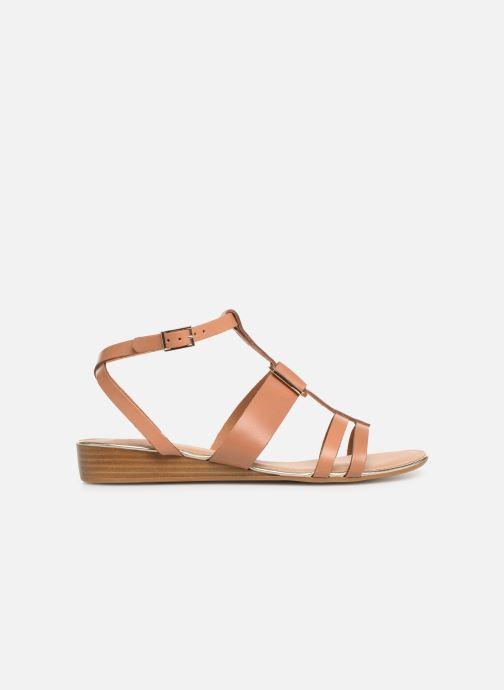 Sandales et nu-pieds Georgia Rose Loriane Marron vue derrière