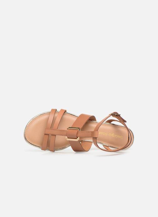 Sandales et nu-pieds Georgia Rose Loriane Marron vue gauche