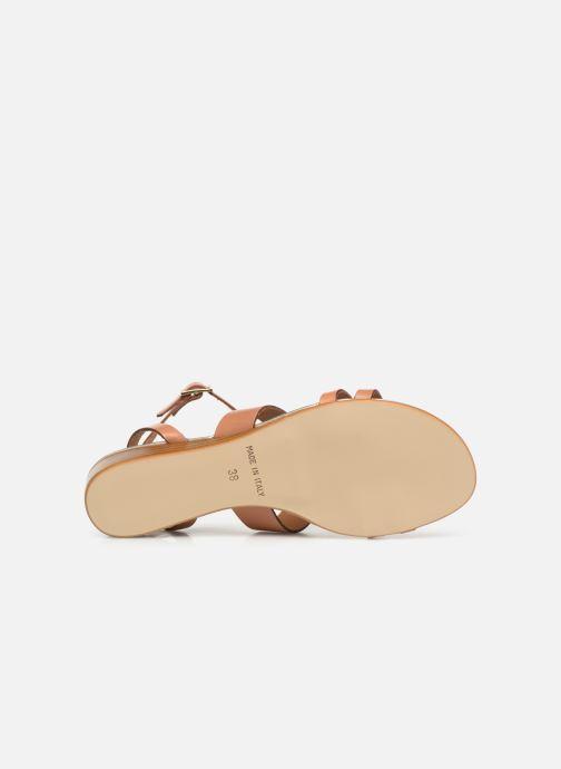 Sandales et nu-pieds Georgia Rose Loriane Marron vue haut