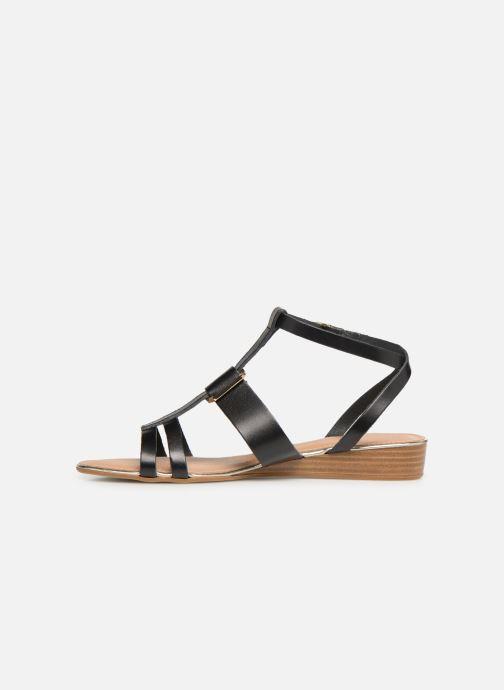 Sandales et nu-pieds Georgia Rose Loriane Noir vue face