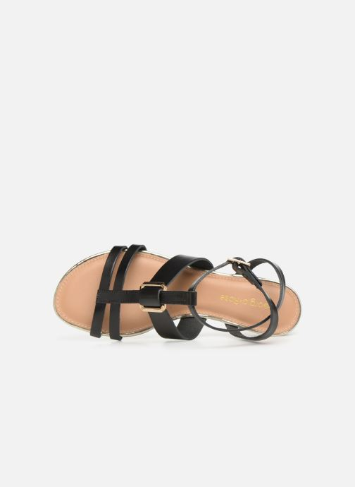 Sandales et nu-pieds Georgia Rose Loriane Noir vue gauche