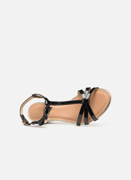 Sandales et nu-pieds Georgia Rose Lobow Noir vue gauche