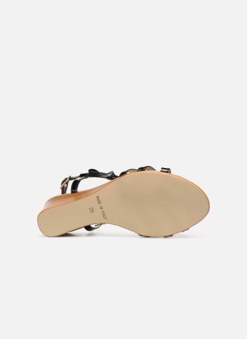Sandales et nu-pieds Georgia Rose Lobow Noir vue haut