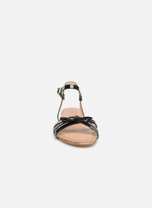 Sandales et nu-pieds Georgia Rose Lonoua Noir vue portées chaussures