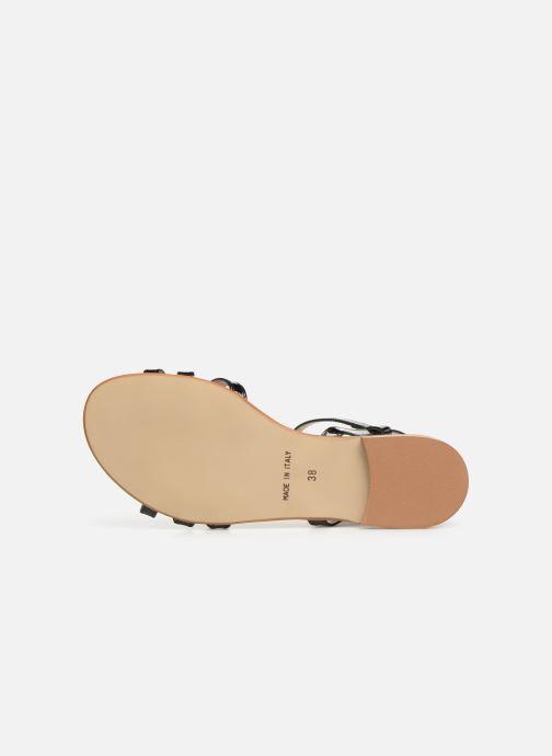 Sandales et nu-pieds Georgia Rose Lonoua Noir vue haut