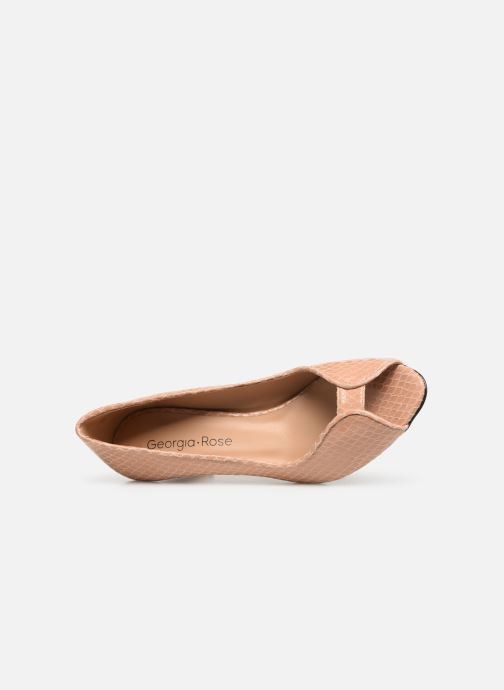 Zapatos de tacón Georgia Rose Azenora Beige vista lateral izquierda