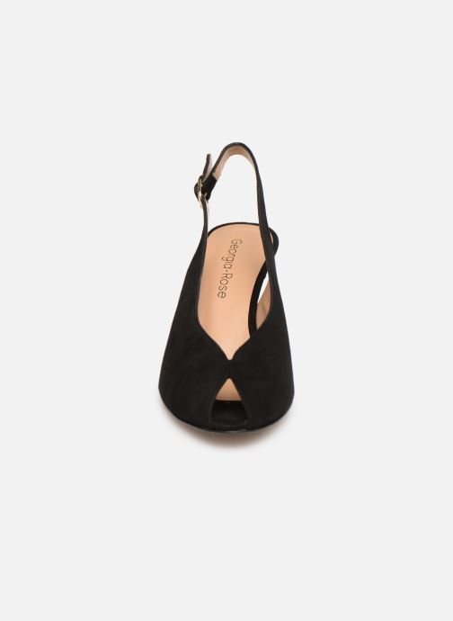Sandales et nu-pieds Georgia Rose Avrila Noir vue portées chaussures
