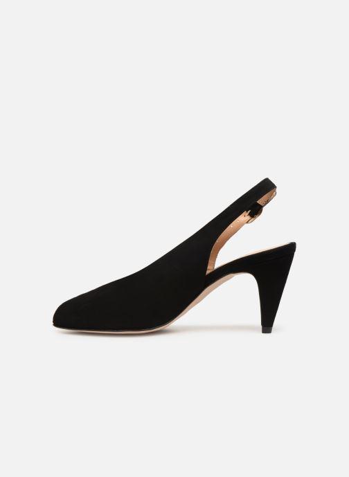 Sandales et nu-pieds Georgia Rose Avrila Noir vue face