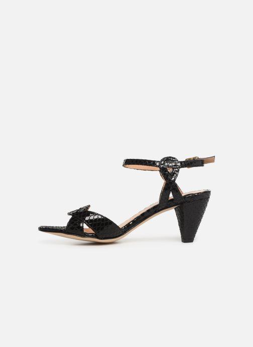 Sandales et nu-pieds Georgia Rose Anaconda Noir vue face