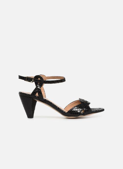 Sandales et nu-pieds Georgia Rose Anaconda Noir vue derrière