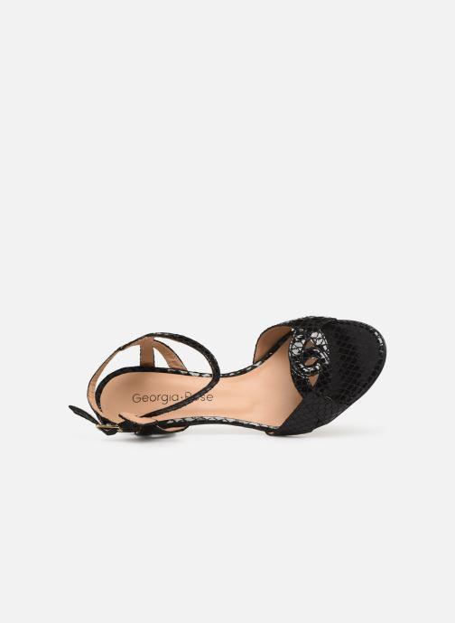Sandales et nu-pieds Georgia Rose Anaconda Noir vue gauche