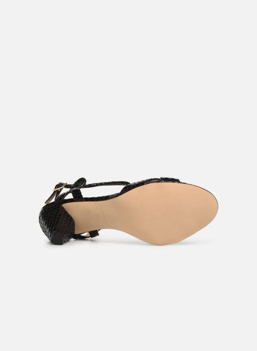 Sandales et nu-pieds Georgia Rose Anaconda Noir vue haut