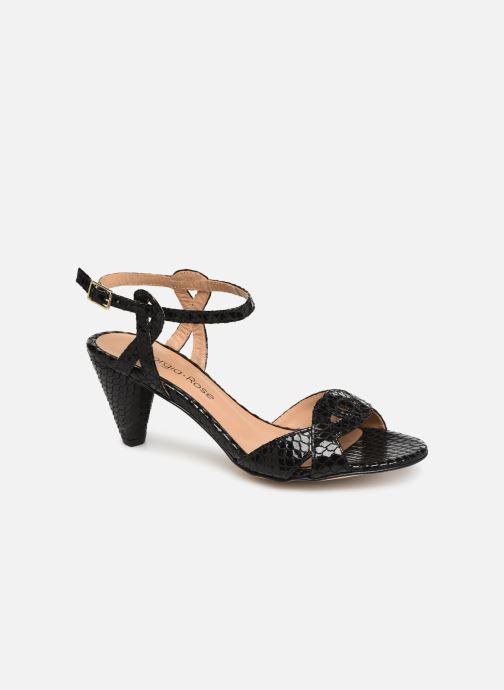 Sandales et nu-pieds Georgia Rose Anaconda Noir vue détail/paire