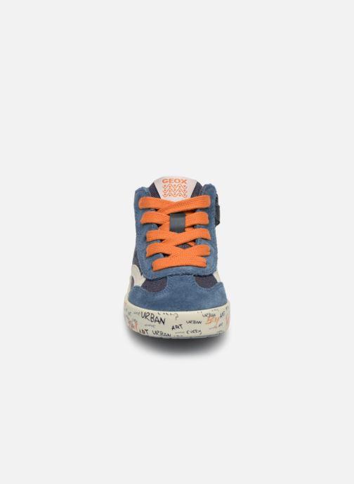Baskets Geox B Kilwi Boy B92A7E Bleu vue portées chaussures