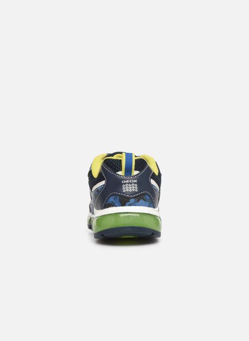 Baskets Geox J Android Boy J9244C Bleu vue droite