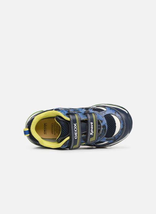 Baskets Geox J Android Boy J9244C Bleu vue gauche