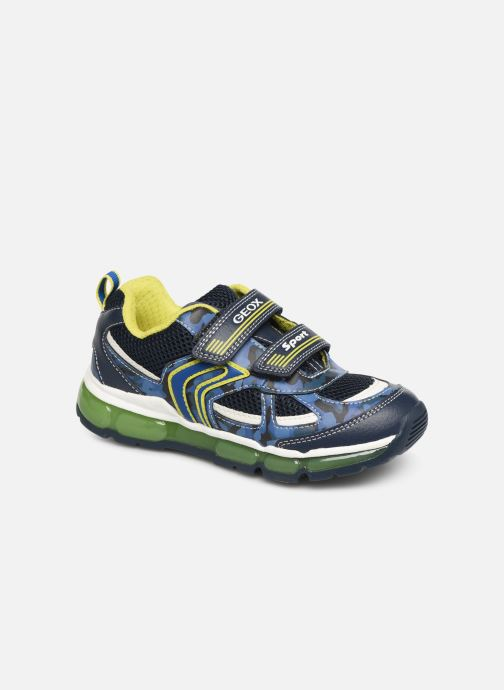 Trainers Geox J Android Boy J9244C Blue detailed view/ Pair view