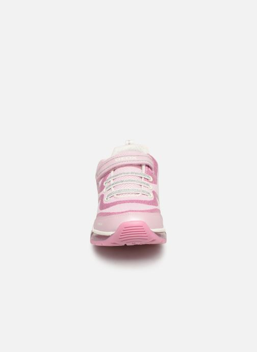 Baskets Geox J Android Girl J9245C Rose vue portées chaussures