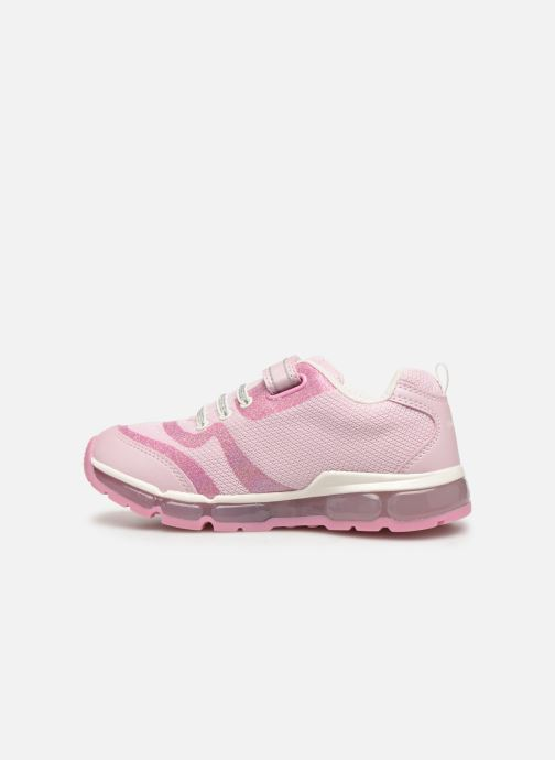 Trainers Geox J Android Girl J9245C Pink front view