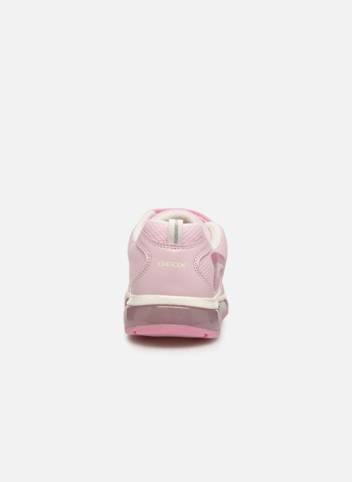 Baskets Geox J Android Girl J9245C Rose vue droite