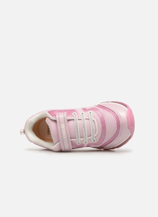 Baskets Geox J Android Girl J9245C Rose vue gauche