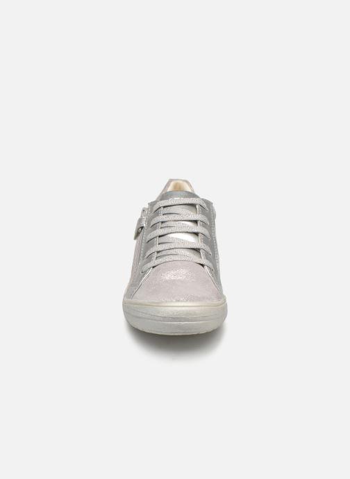 Baskets Geox J Hadriel Girl J927VB Argent vue portées chaussures