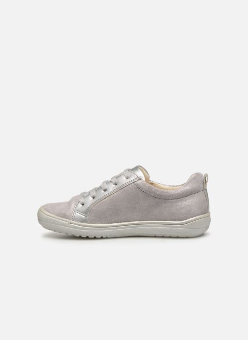 Trainers Geox J Hadriel Girl J927VB Silver front view