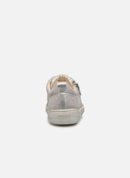 Sneakers Geox J Hadriel Girl J927VB Zilver rechts