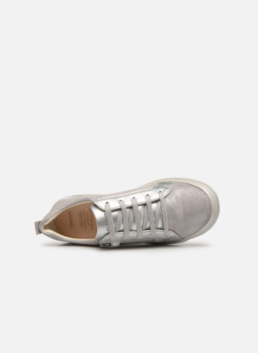 Trainers Geox J Hadriel Girl J927VB Silver view from the left