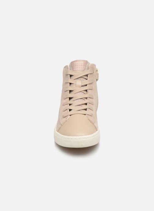 Baskets Geox J Kilwi Girl Mid J92D5D Beige vue portées chaussures
