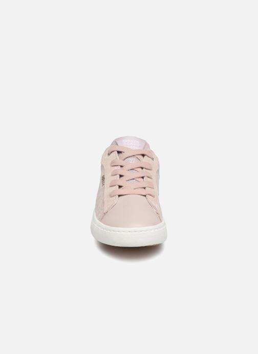 Baskets Geox J Kilwi Girl J92D5E Rose vue portées chaussures