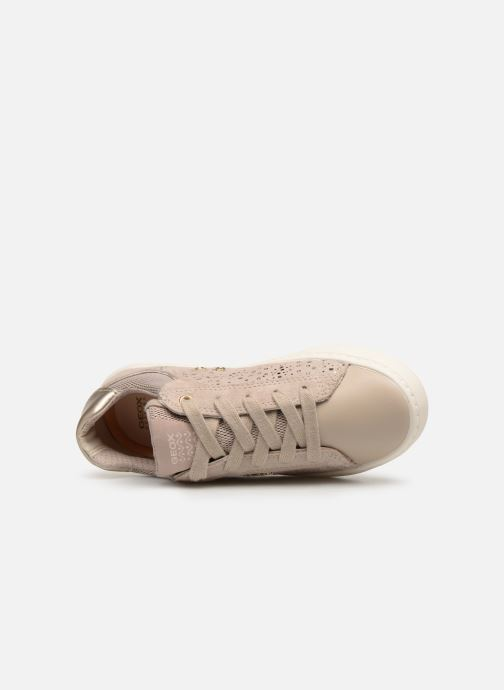 Trainers Geox J Kilwi Girl J92D5E Beige view from the left