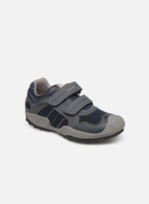 Sportssko Geox J New Savage Boy J921VC Blå detaljeret billede af skoene