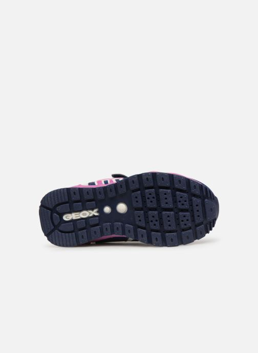 Zapatillas de deporte Geox J Pavel Girl J928CA Rosa vista de arriba