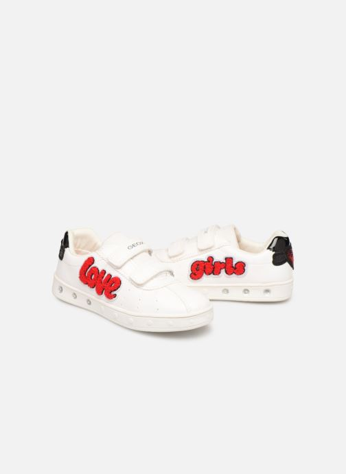 Sneakers Geox J Skylin Girl J928WC Wit 3/4'