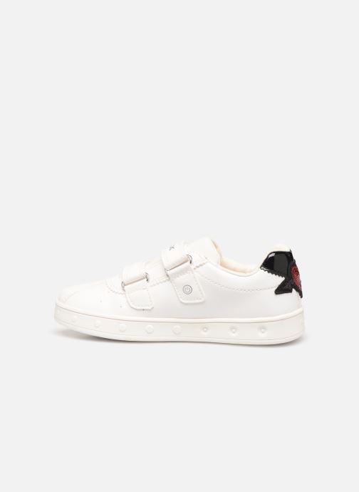 Sneakers Geox J Skylin Girl J928WC Bianco immagine frontale