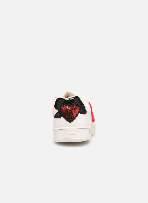 Sneakers Geox J Skylin Girl J928WC Wit rechts