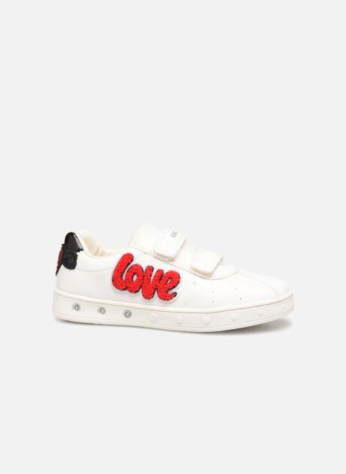 Sneakers Geox J Skylin Girl J928WC Wit achterkant