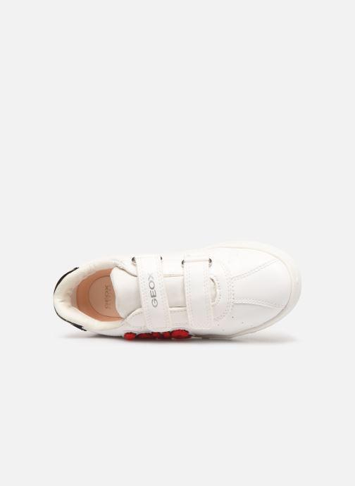 Sneakers Geox J Skylin Girl J928WC Wit links