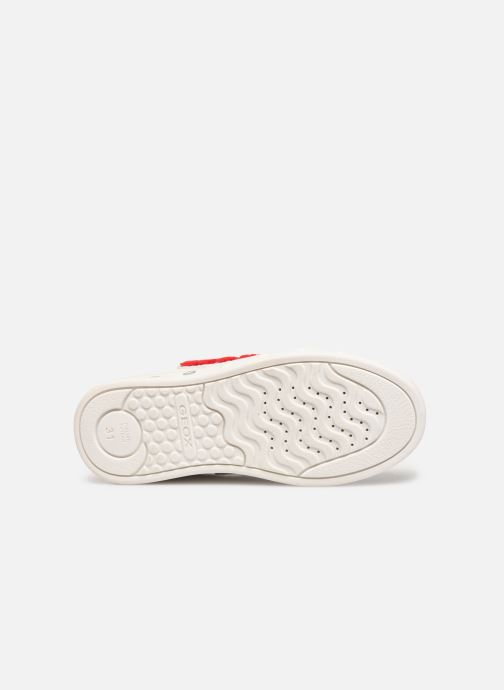 Sneakers Geox J Skylin Girl J928WC Bianco immagine dall'alto