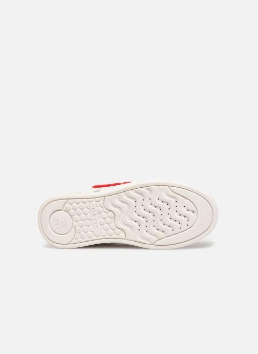 Sneakers Geox J Skylin Girl J928WC Wit boven