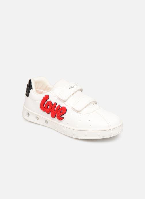 Sneakers Geox J Skylin Girl J928WC Wit detail
