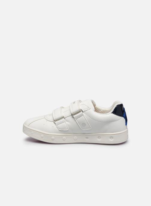 Sneaker Geox J Skylin Girl J928WC weiß ansicht von vorne