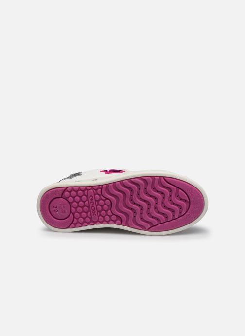 Sneaker Geox J Skylin Girl J928WC weiß ansicht von oben