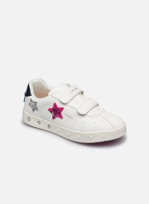 Sneakers Geox J Skylin Girl J928WC Bianco vedi dettaglio/paio
